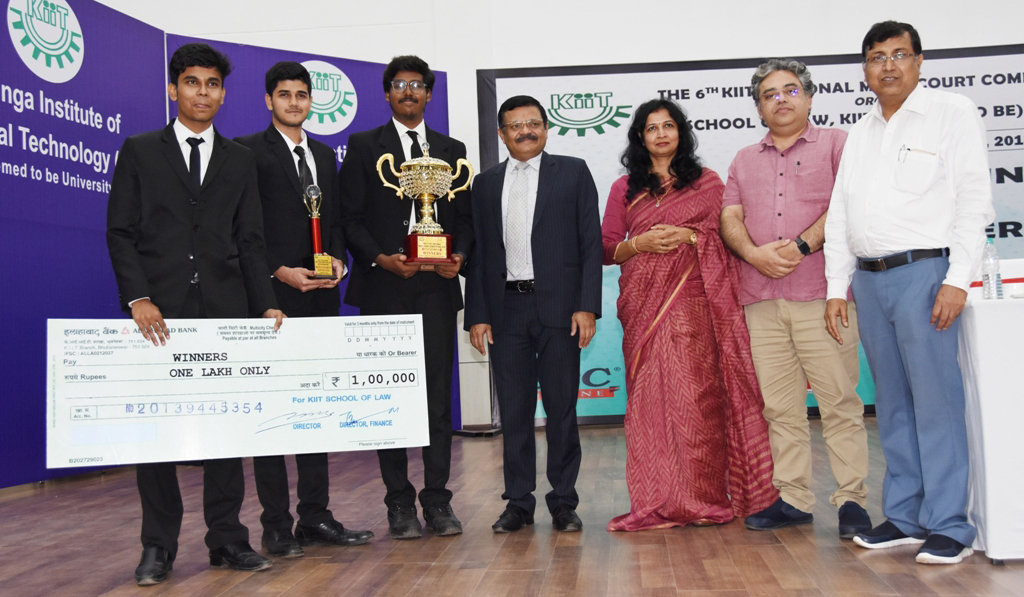 6th KIIT National Moot Court Competition Concludes  Sastra University Champion