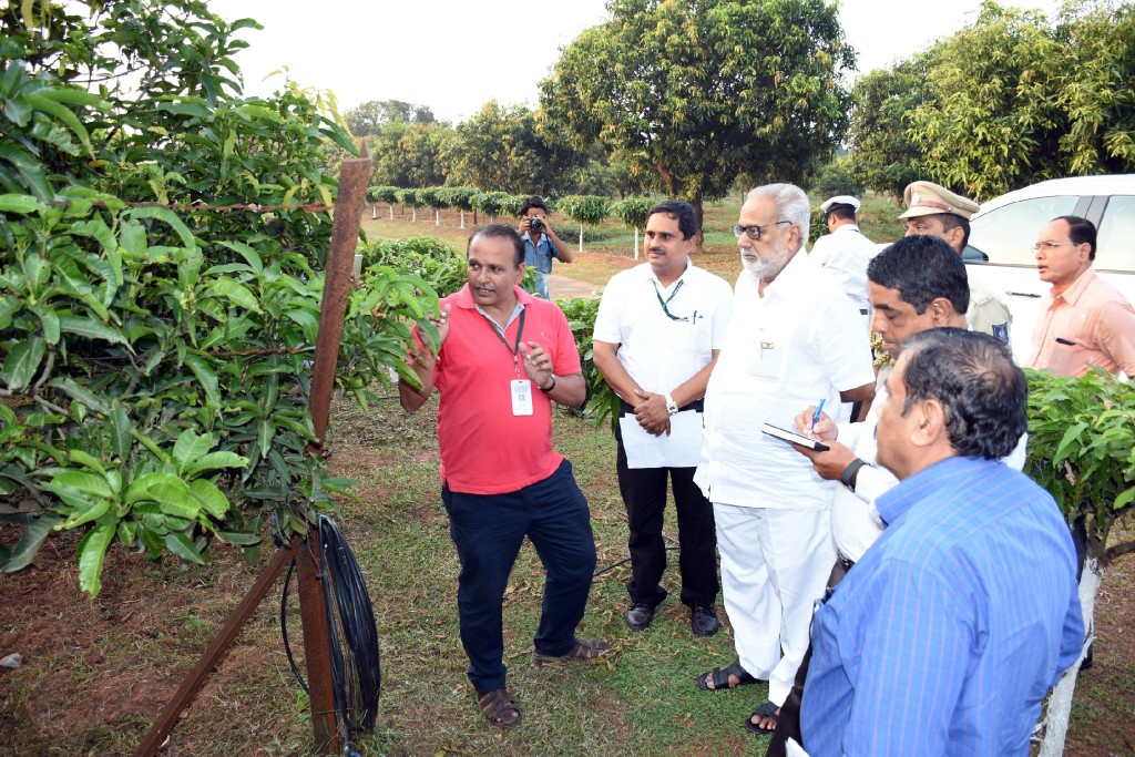 Governor Prof. Ganeshi Lal visiting Central Horticultural Experiment Station at Aiginia, Bhubaneswar